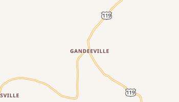 Gandeeville, West Virginia map