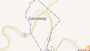 Gassaway, West Virginia map