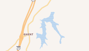 Ghent, West Virginia map