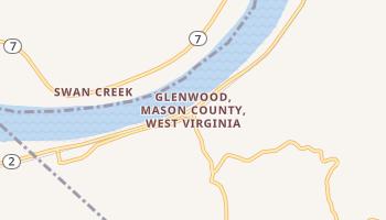 Glenwood, West Virginia map