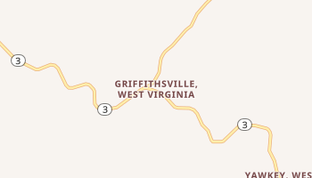 Griffithsville, West Virginia map