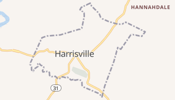 Harrisville, West Virginia map