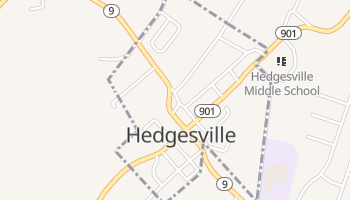 Hedgesville, West Virginia map