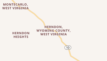 Herndon, West Virginia map