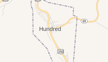 Hundred, West Virginia map