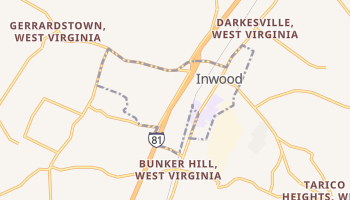 Inwood, West Virginia map