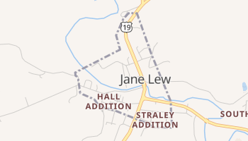 Jane Lew, West Virginia map