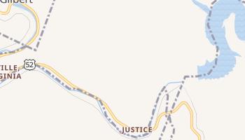 Justice, West Virginia map