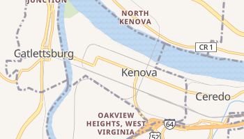 Kenova, West Virginia map