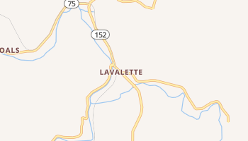 Lavalette, West Virginia map