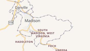 Madison, West Virginia map