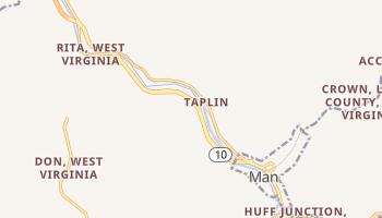 Man, West Virginia map