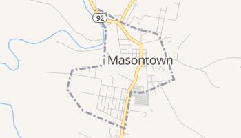 Masontown, West Virginia map
