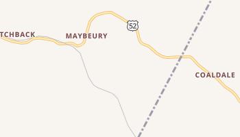 Maybeury, West Virginia map