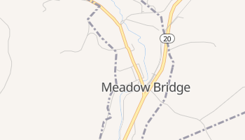 Meadow Bridge, West Virginia map