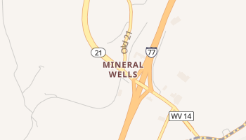 Mineralwells, West Virginia map