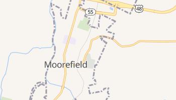 Moorefield, West Virginia map