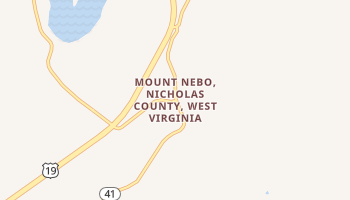 Mount Nebo, West Virginia map