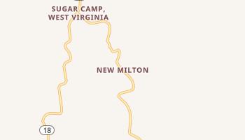 New Milton, West Virginia map