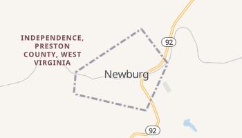 Newburg, West Virginia map