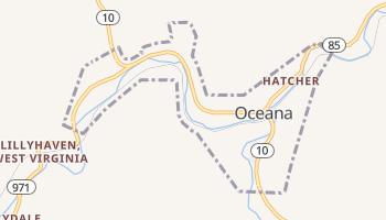 Oceana, West Virginia map