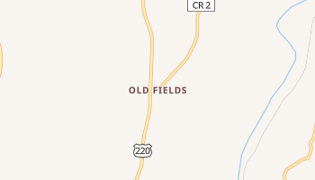 Old Fields, West Virginia map