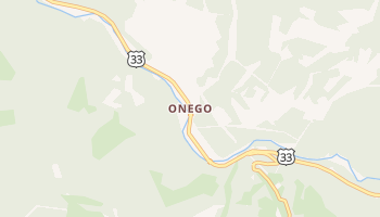 Onego, West Virginia map