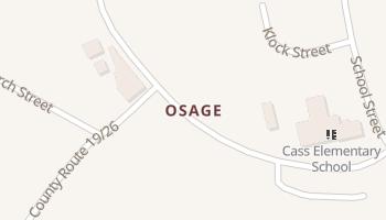 Osage, West Virginia map