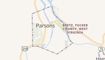Parsons, West Virginia map
