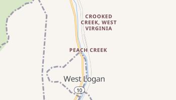 Peach Creek, West Virginia map