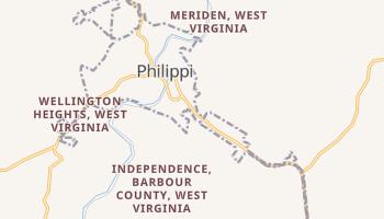 Philippi, West Virginia map