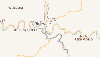 Pineville, West Virginia map