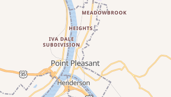 Point Pleasant, West Virginia map