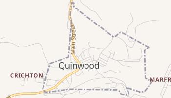 Quinwood, West Virginia map