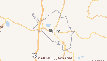 Ripley, West Virginia map