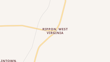 Rippon, West Virginia map
