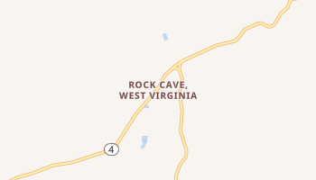 Rock Cave, West Virginia map