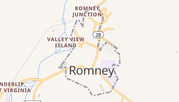 Romney, West Virginia map
