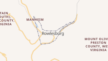 Rowlesburg, West Virginia map