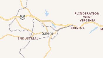 Salem, West Virginia map