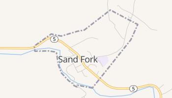 Sand Fork, West Virginia map