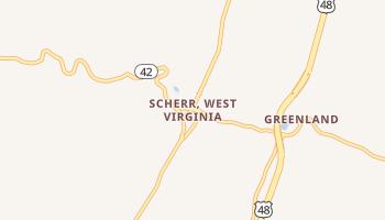 Scherr, West Virginia map