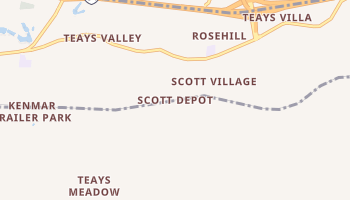 Scott Depot, West Virginia map
