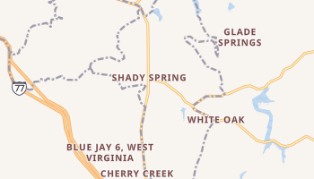 Shady Spring, West Virginia map