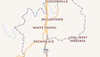 Sissonville, West Virginia map