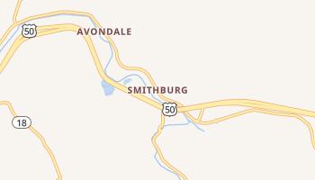 Smithburg, West Virginia map