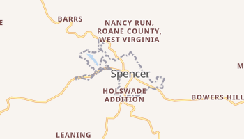 Spencer, West Virginia map