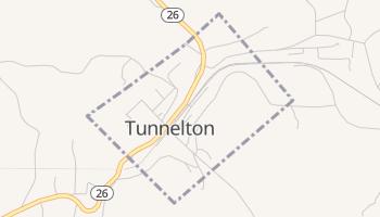 Tunnelton, West Virginia map