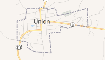 Union, West Virginia map