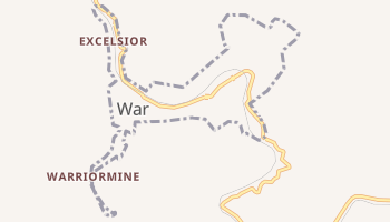 War, West Virginia map